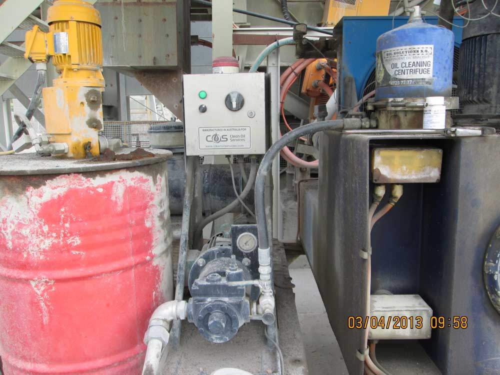 Fixed Centrifuge Oil Filtration Assemblies Save Crusher At Quarry image