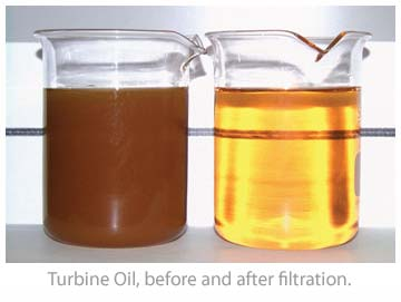 Turbine Oil Before and After Oil filtration