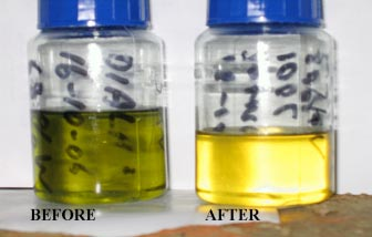 Before and After oil samples