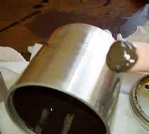 Sludge removed from oil centrifuge