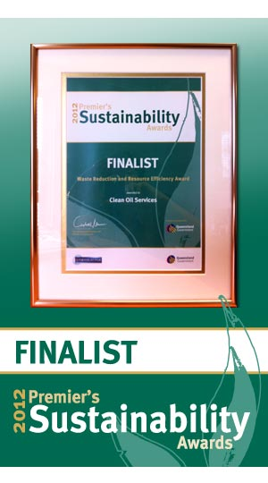 Clean Oil Services Premiers Sustainability Award