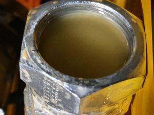 Contaminated Hydraulic Oil